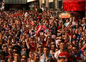 U.S. Soccer fans return to KCP&L for the fourth game of The World Cup for the American team.