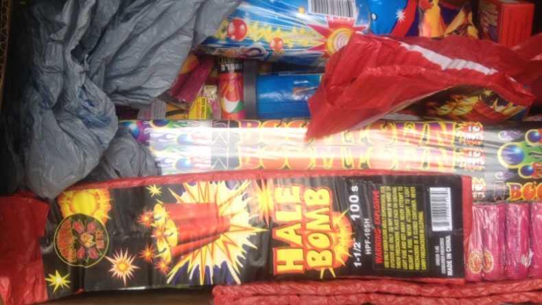 Image KCPD's fireworks haul