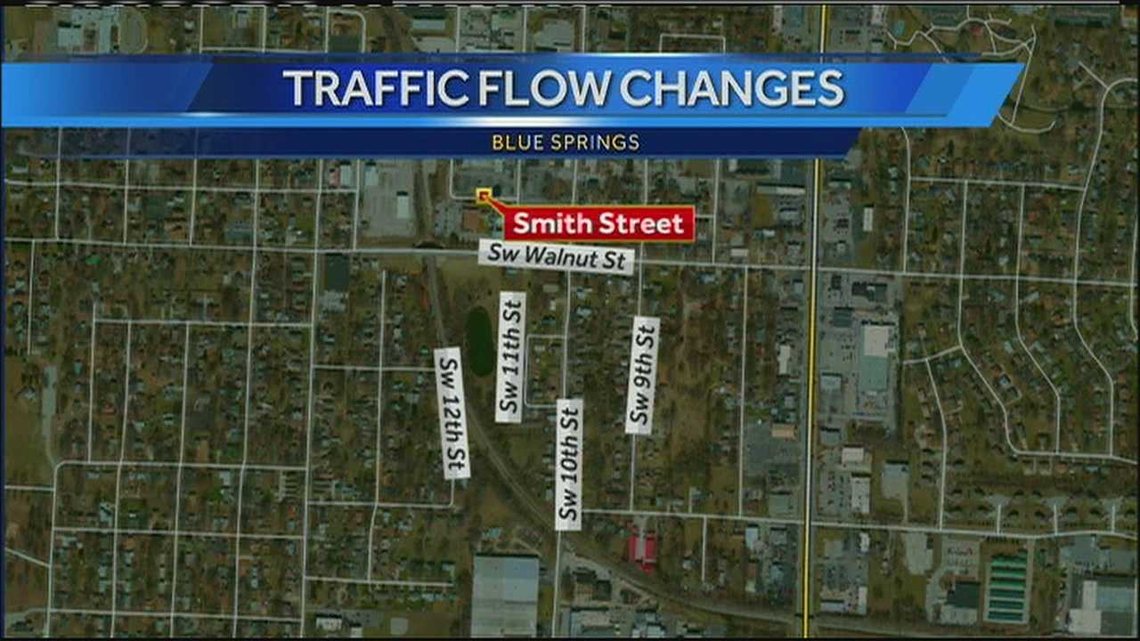 To accommodate a construction project, a stretch of Smith Street in Blue Springs is about to become a one-way street for at least the next nine months and perhaps even longer.