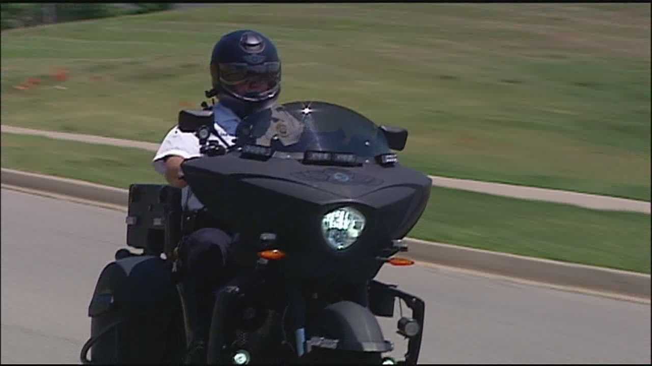 Deputies in the Johnson County Sheriff's Office Motorcycle Unit are showing off a new helmet that may look futuristic and cool, but is designed to improve safety.