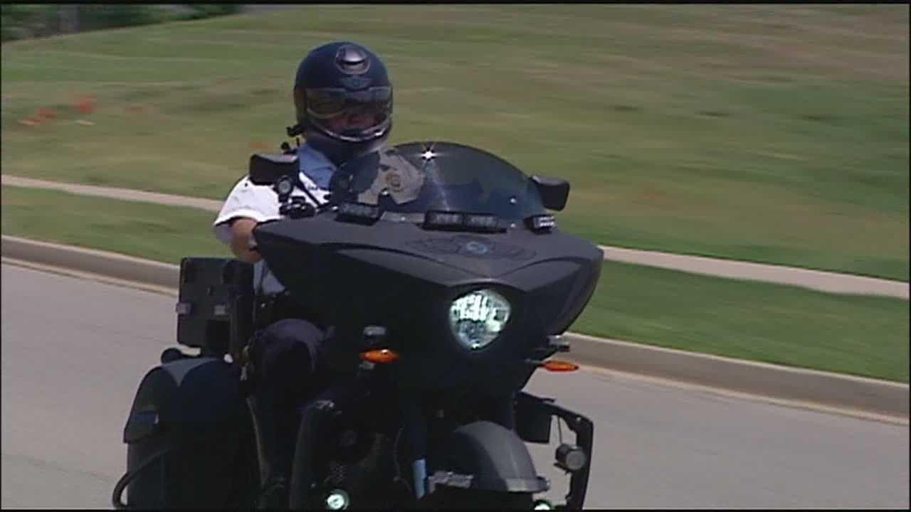 Johnson County deputies show off new motorcycle helmets