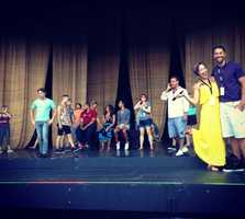 """Cast of """"Joseph and the Amazing Technicolor Dreamcoat"""" rehearse for a final time before Tuesday's show."""