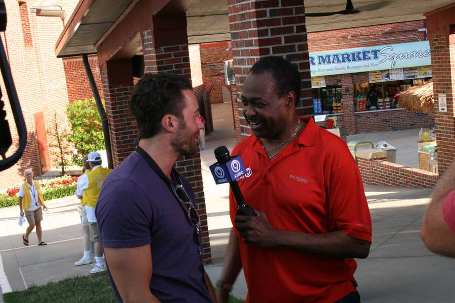 KMBC 9 News Chief Meteorologist Bryan Busby interviews Ace Young at Kansas City's Starlight Theatre.