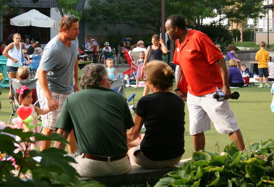 "KMBC 9 News ""Hometown Weather"" tour visits Park Place in Leawood for ""Summer Sounds"" concert series.  For a list of future performances this summer, click here."