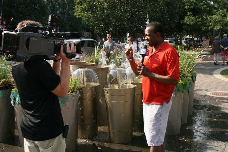 """KMBC 9 News """"Hometown Weather"""" tour visits Park Place in Leawood for """"Summer Sounds"""" concert series. For a list of future performances this summer, click here."""