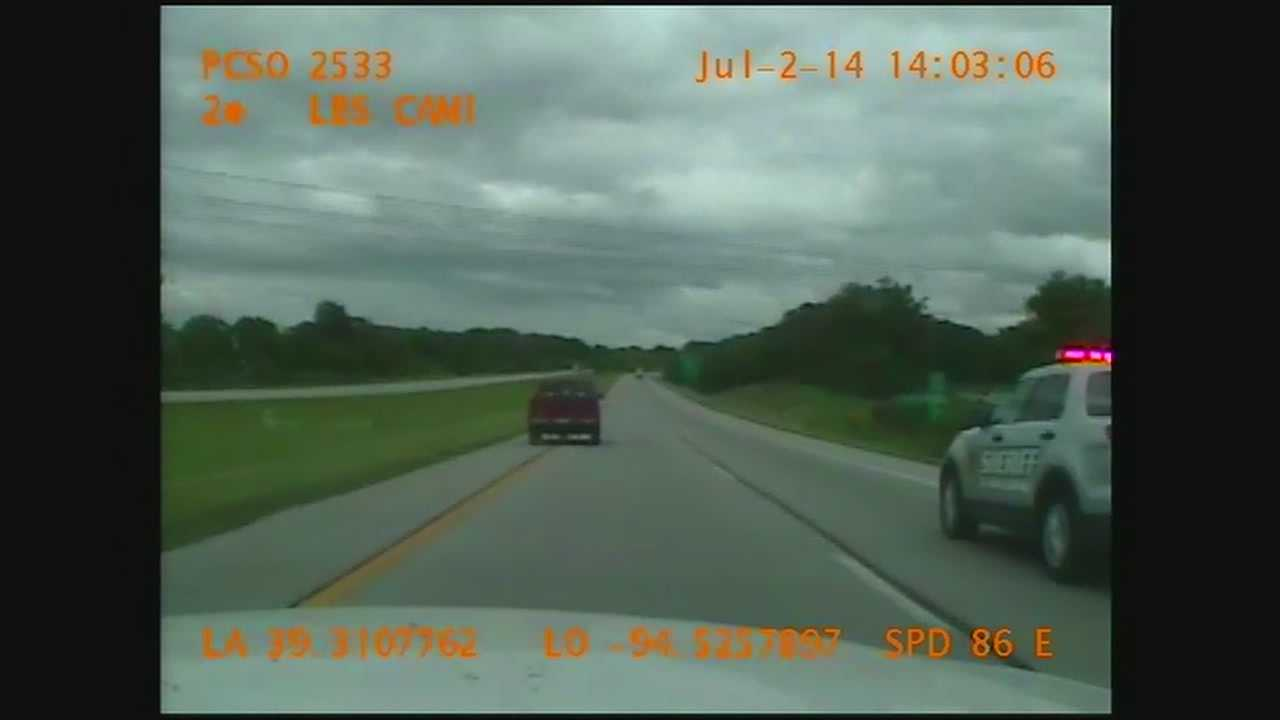 The Platte County Sheriff's Office has released video of a high-speed chase on July 2 that ended when the driver crashed into another SUV while going the wrong way on Interstate 29.