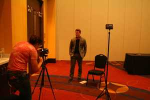 "Images from Kansas City's ""Bachelor"" casting call, where employees from the show were looking for women to appear in an upcoming season.  This is the room where candidates interviewed one-on-one."