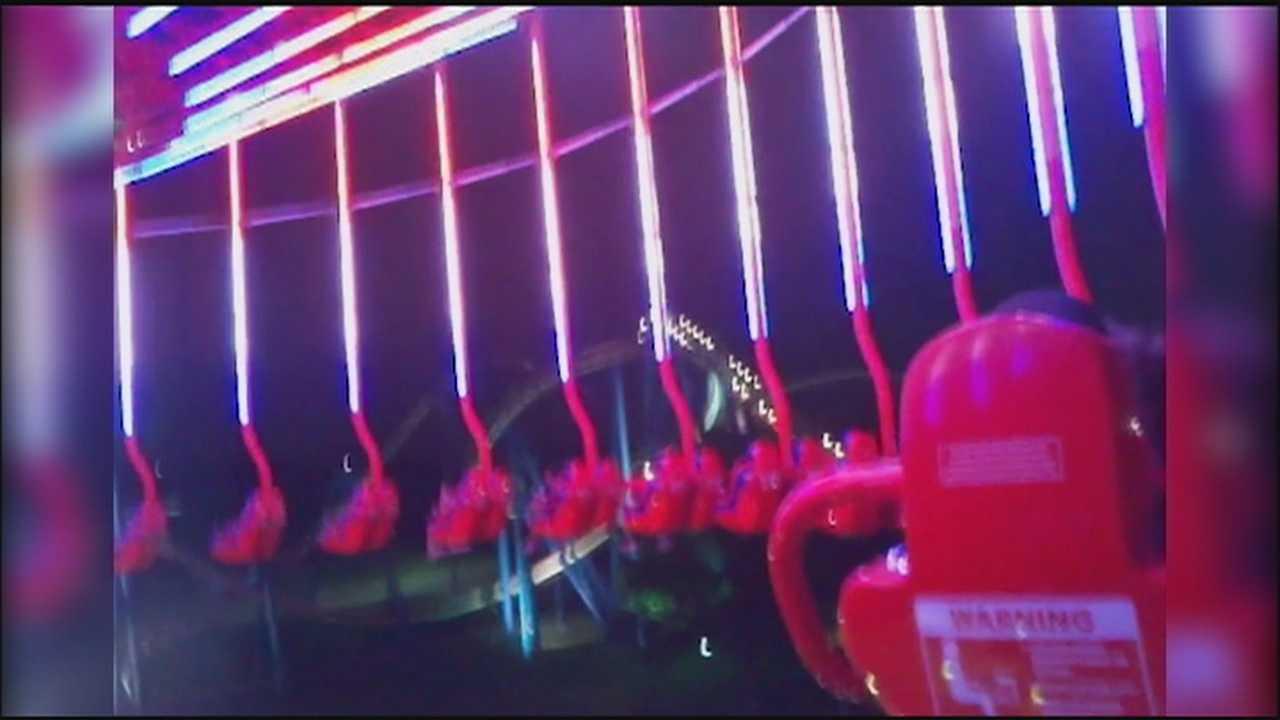 Riders get stuck on Worlds of Fun's new SteelHawk ride