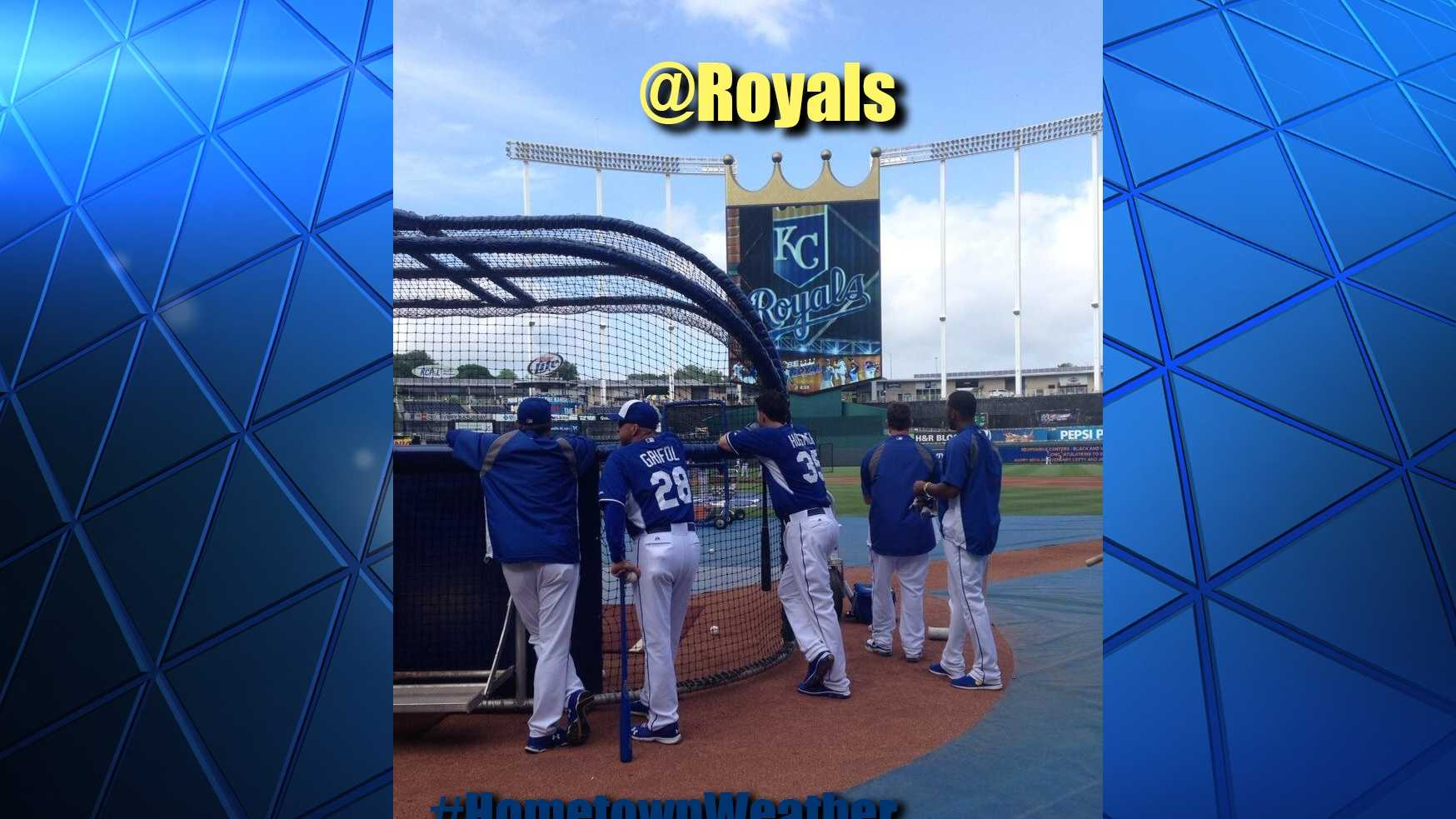 KMBC 9 News meteorologist Nick Bender will join fans in the parking lot for pregame festivities.  Royals host the Tigers tonight at Kauffman Stadium.