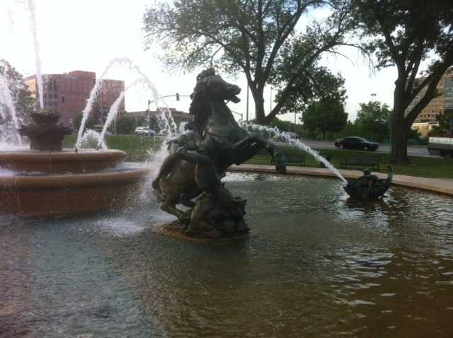 """Which Kansas City fountain is Donna's favorite? The JC Nichols Fountain. """"It's iconic,"""" Donna said."""