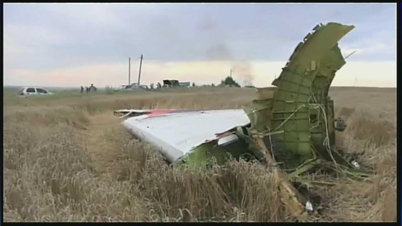 Image Plane wreckage in Ukraine