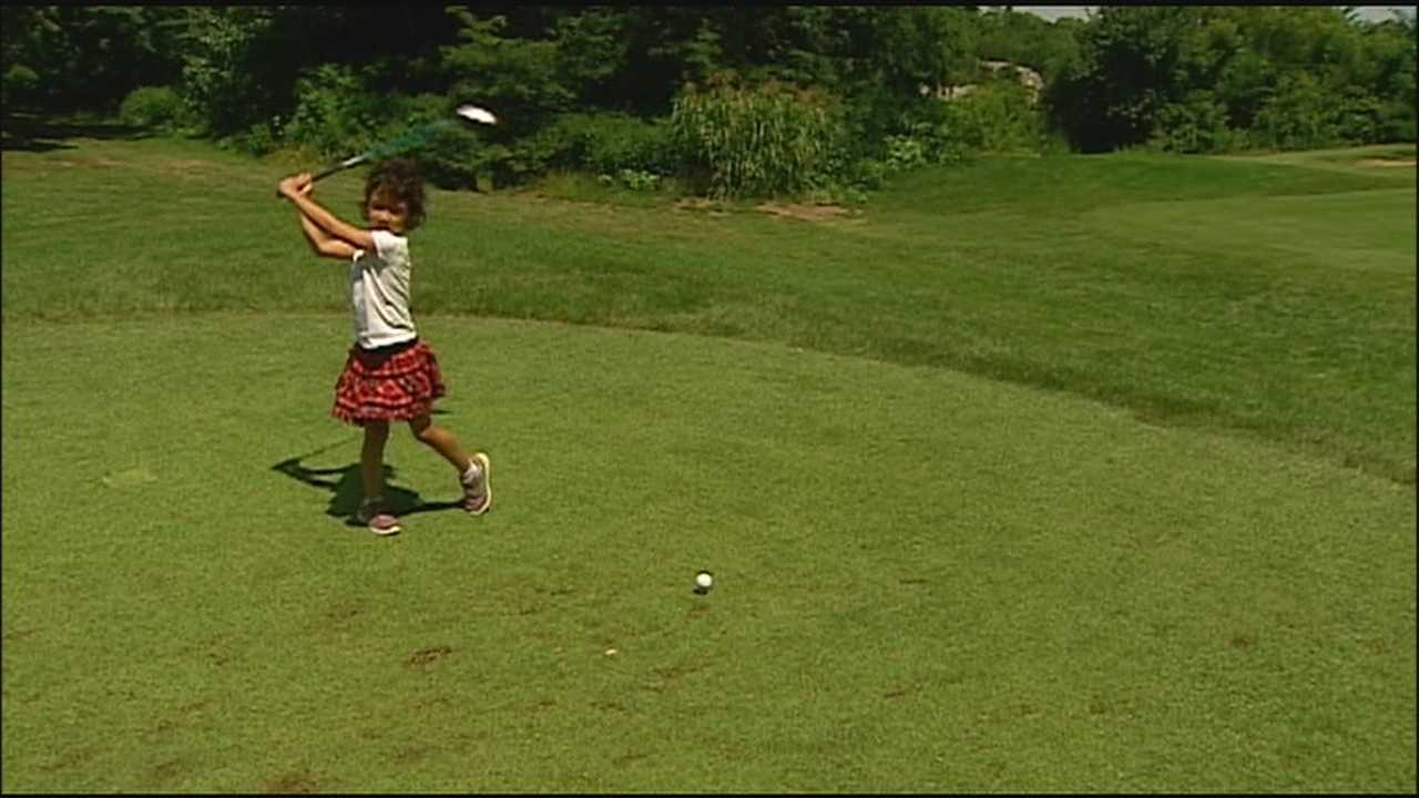 Like Tiger Woods, Lynn Powell started swinging a golf club when she was 2 years old. The fact that she had her first hole-in-one at age 5 earlier this month is making her a star in Kansas City's golfing community.