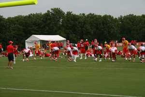 Photos from Chiefs training camp at Missouri Western State University in St. Joseph.