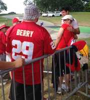 Photos from Chiefs training camp at Missouri Western State University in St. Joseph. Rookie Aaron Murray gets multiple requests for photos with the ladies after practice.