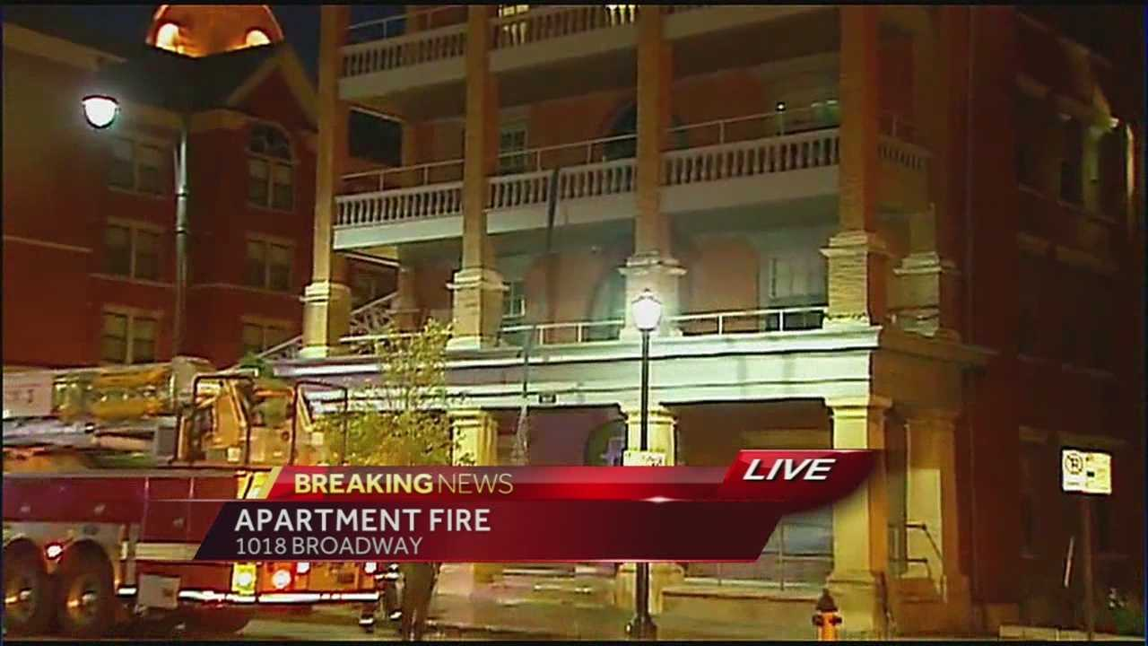 No injuries have been reported after a resident of a downtown Kansas City, Mo., apartment building reported a fire in their kitchen.
