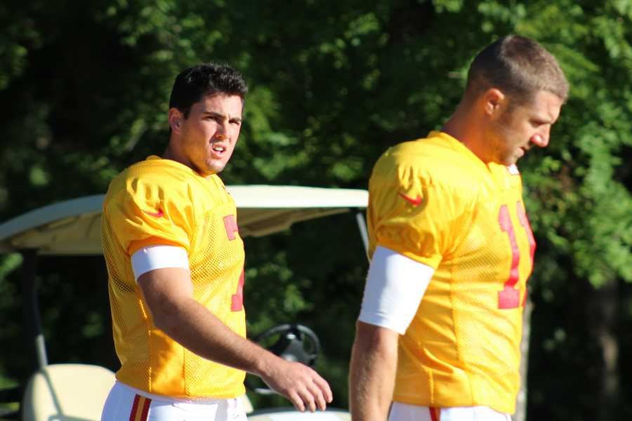 Photos from Chiefs training camp Monday morning at Missouri Western State University.  Quarterbacks Aaron Murray and Alex Smith take the field.  Click here for more information on Chiefs camp.