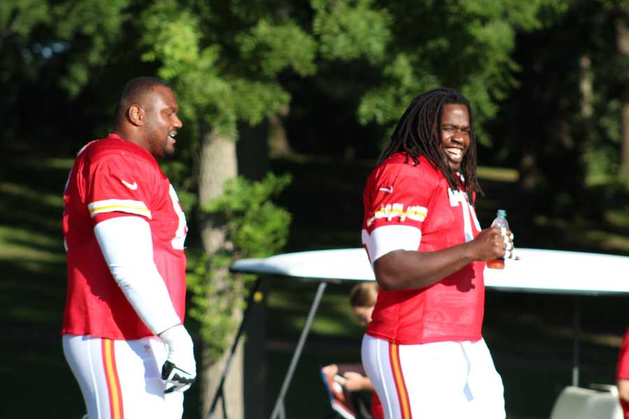 Photos from Chiefs training camp Monday morning at Missouri Western State University.  Click here for more information on Chiefs camp.