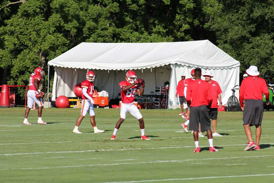 Kansas City Chiefs fans look forward to a wide receiver emerging from training camp. Frankie Hammond Jr. has displayed good hands in practice.