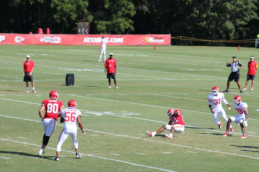Alex Smith throws over the middle to veteran receiver Dwyane Bowe. It is an image Chiefs fans have grown accustomed to.
