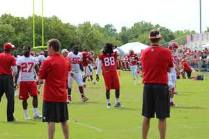 Chiefs training camp continued Wednesday morning. Junior Hemmingway sat out wiht an injury.