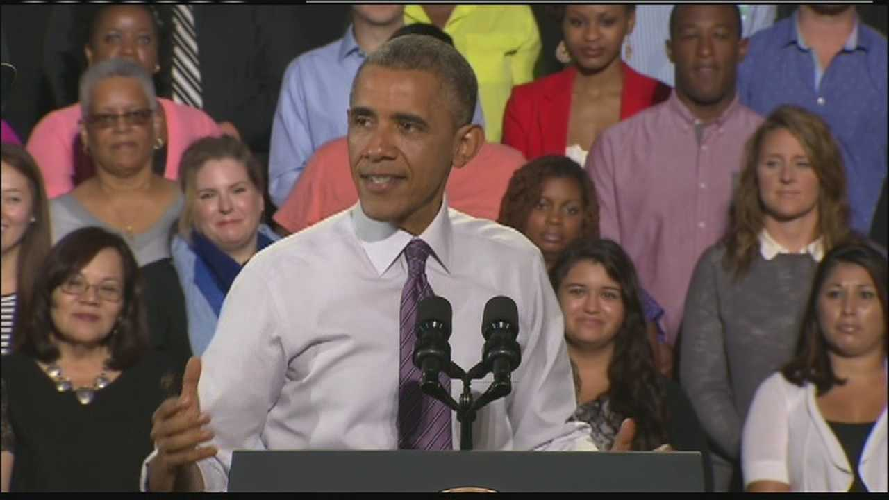 President Obama spent part of his speech in Kansas City talking about raising the minimum wage.  KMBC's Matt Evans reports.