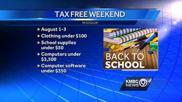 Missouri's tax free weekend is this weekend. Click through the slideshow to see what you can buy tax free this weekend.