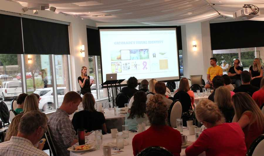 The Social Media Club of Kansas City held its monthly breakfast Friday morning.  VML representatives warned professionals how Twitter (and other social media) followers own the hashtag, not the company creating it.