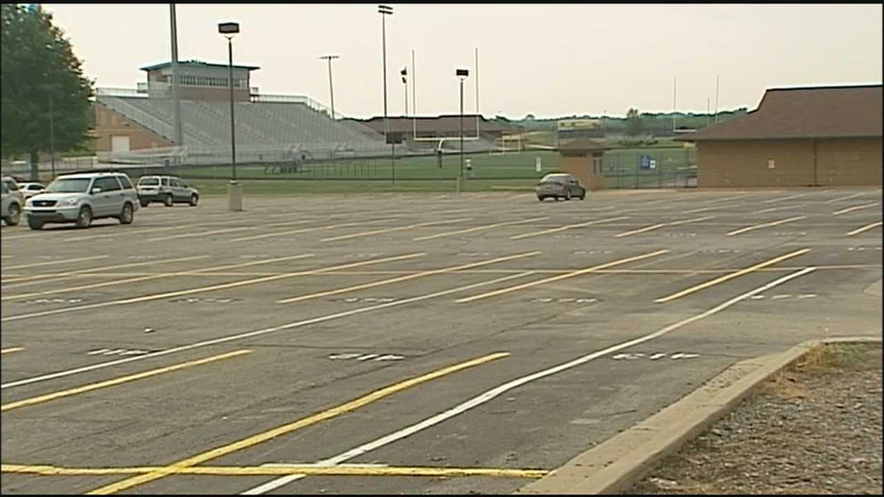 Blue Valley High School parking lot
