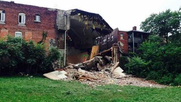 Partial building collapse, KCFD pic