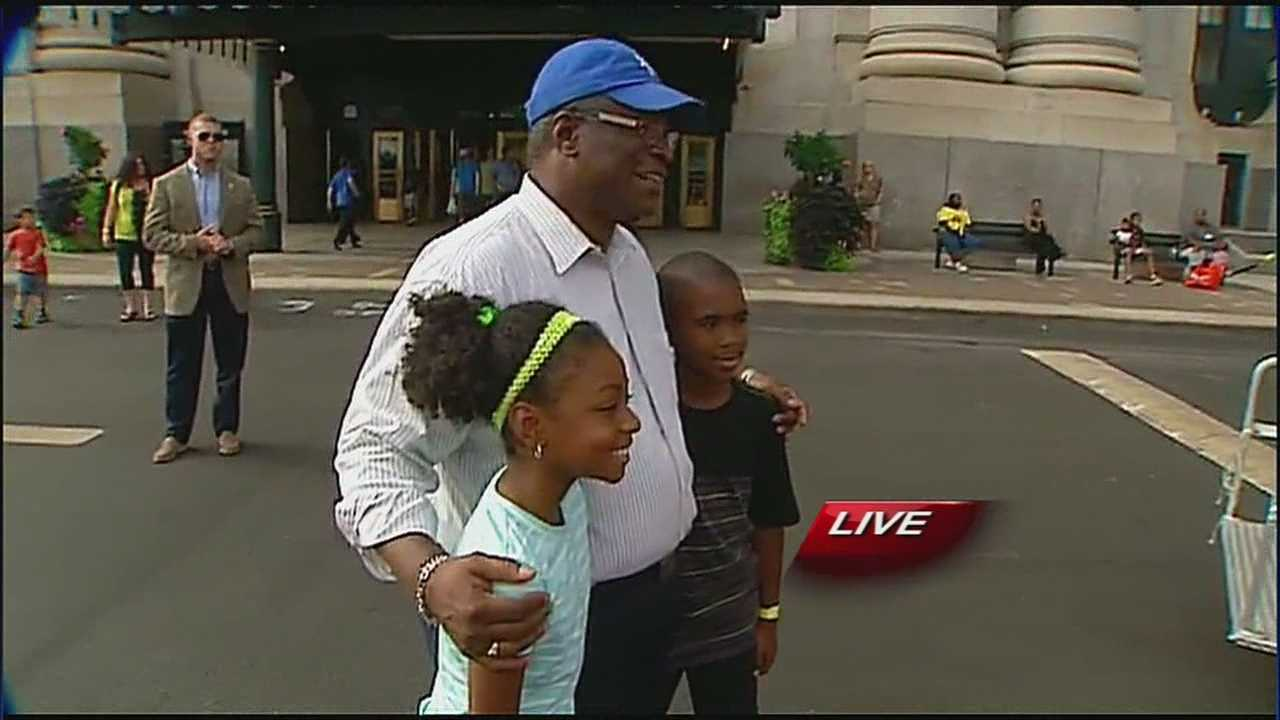 Kansas City Mayor Sly James' end-of-summer party is underway at Union Station.