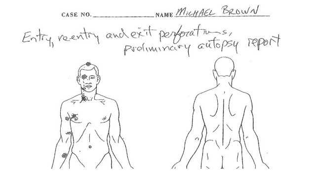 Autopsy Michael Brown