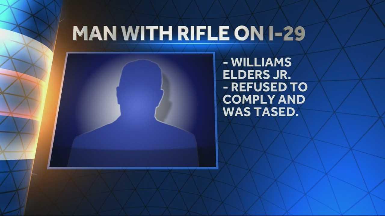 Deputies arrest man with rifle on Interstate 29