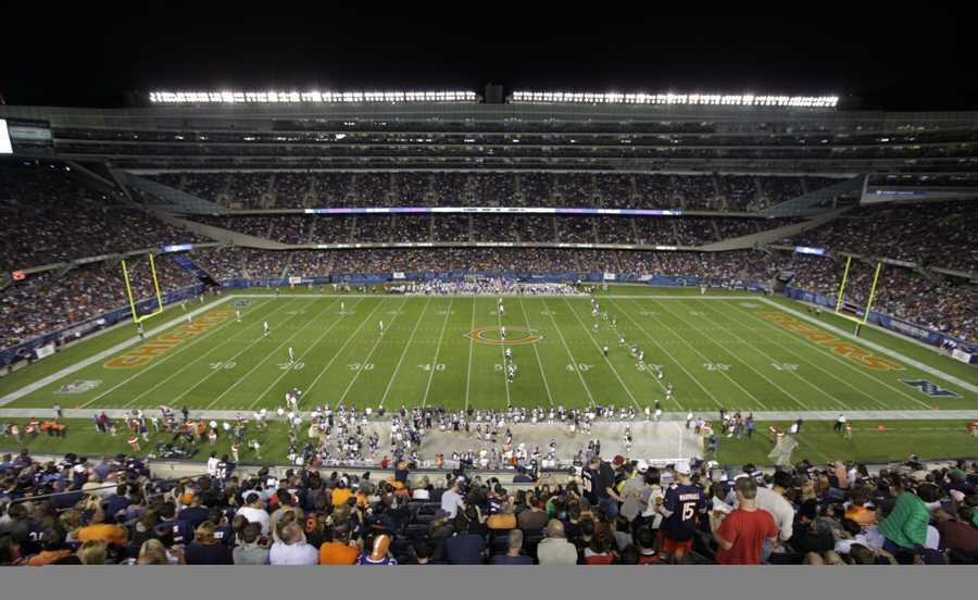8.) Chicago BearsCurrent Value: $1.7 billion1 Year Change: +36%Revenue: $ 309 million