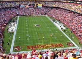 3.) Washington RedskinsCurrent Value: $2.4 billion1 Year Change: +41%Revenue: $ 395 million