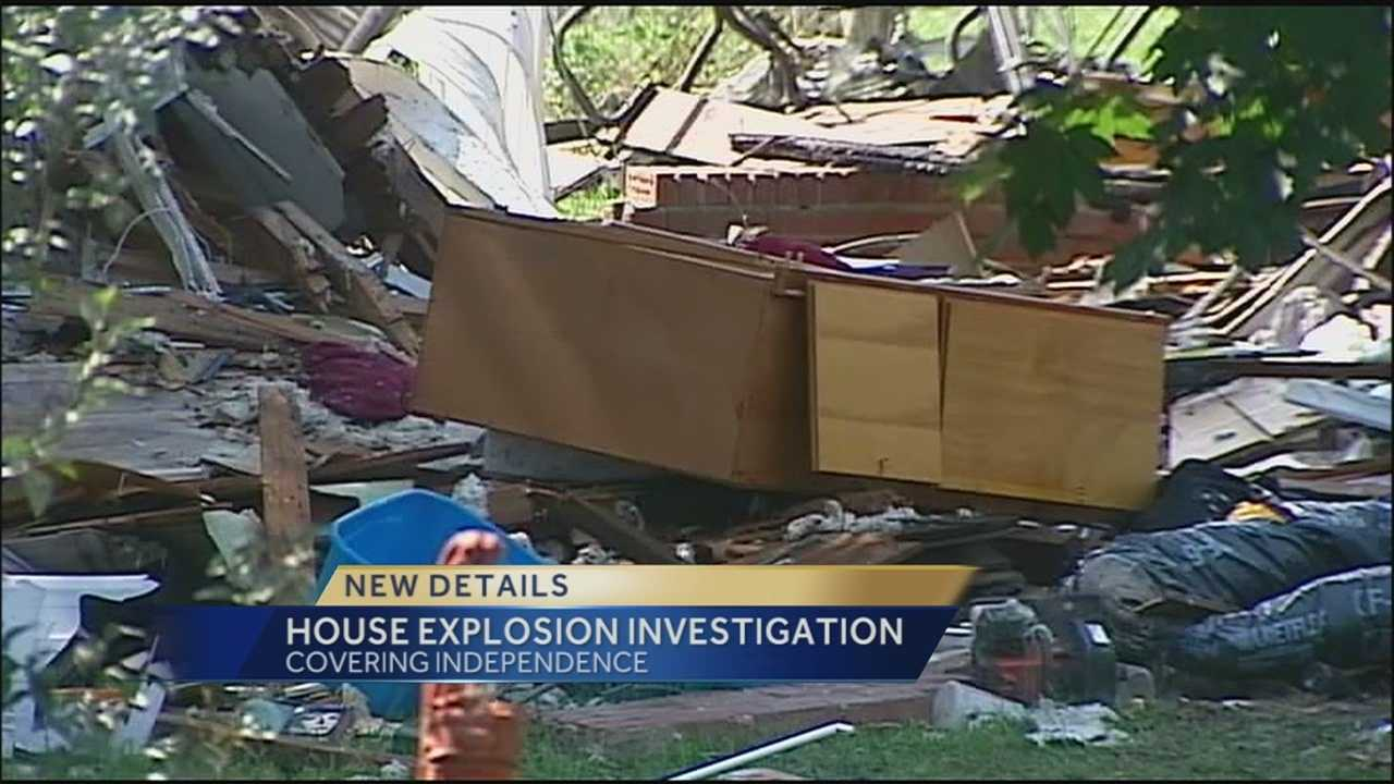 The owners of the home that blew up in Independence on Tuesday afternoon returned to see how little of their belongings was left.