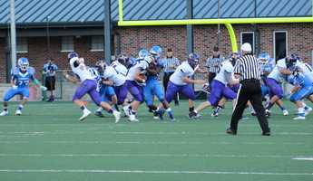 Kearney took on Liberty in KMBC's first HyVee Game of the Week for the 2014 season. The game was played at Kansas City North High School.