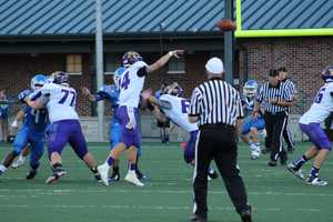 Kearney's passing offense was too much for Liberty to handle. Kearney wins 42-7.