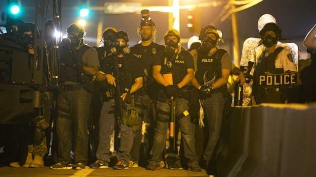 Police respond to protests in Ferguson