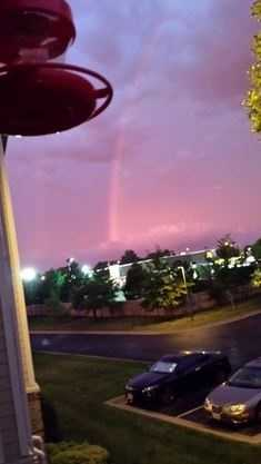 Joseph in Grandview woke up to a rainbow in this purple sky.