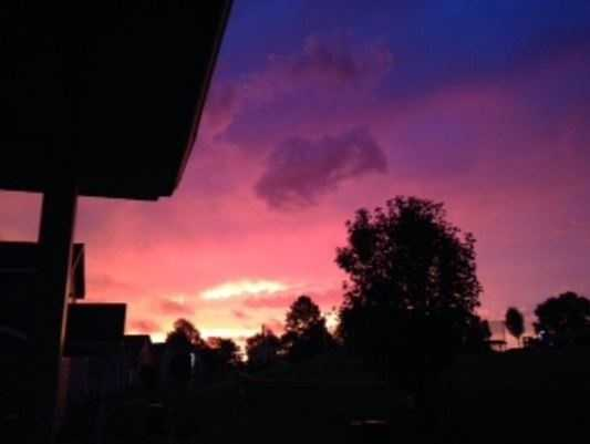 Kianna caught a glimpse of this sunrise in Belton.