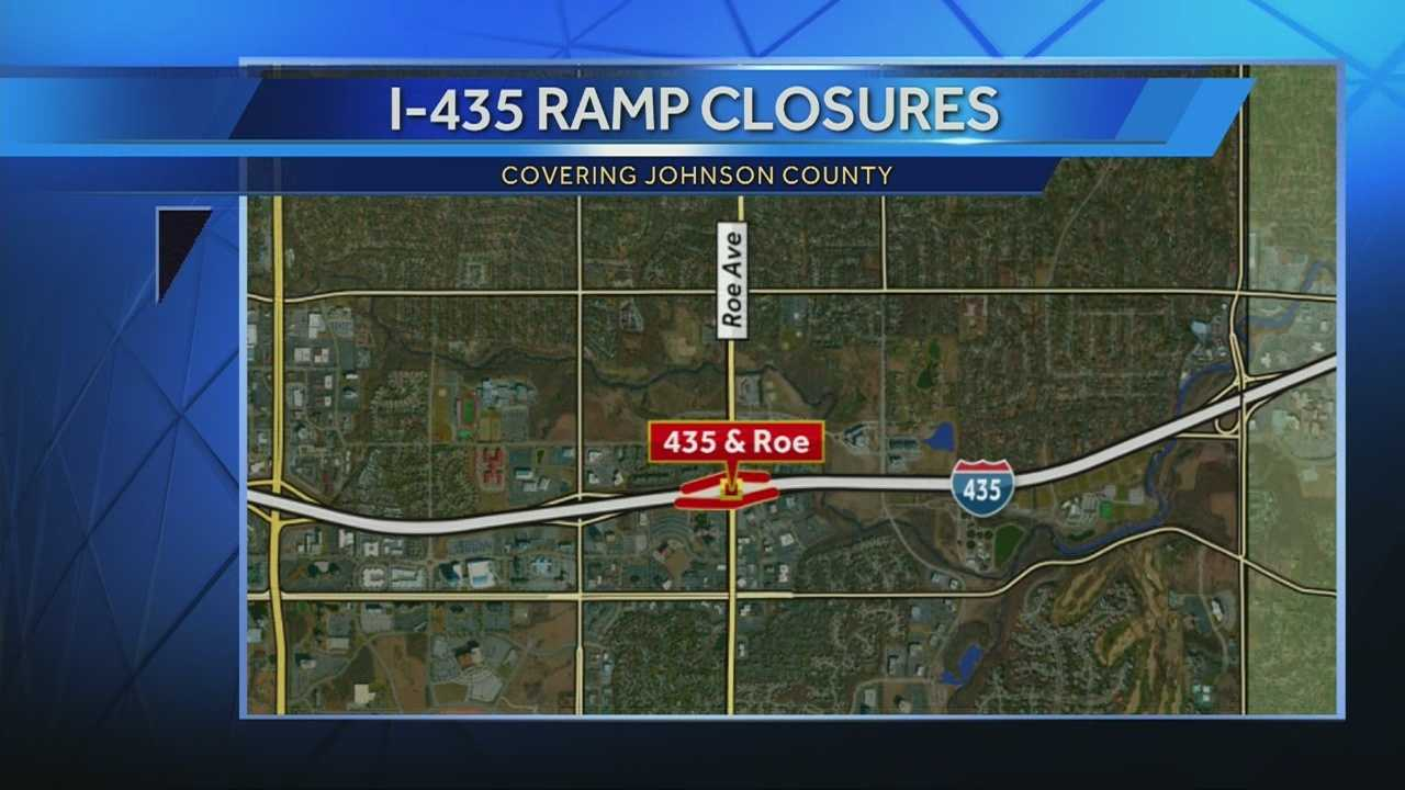 Expect a few delays if you're heading near Roe on I-435. Construction crews have closed all ramps leading to and from I-435 at Roe Avenue.