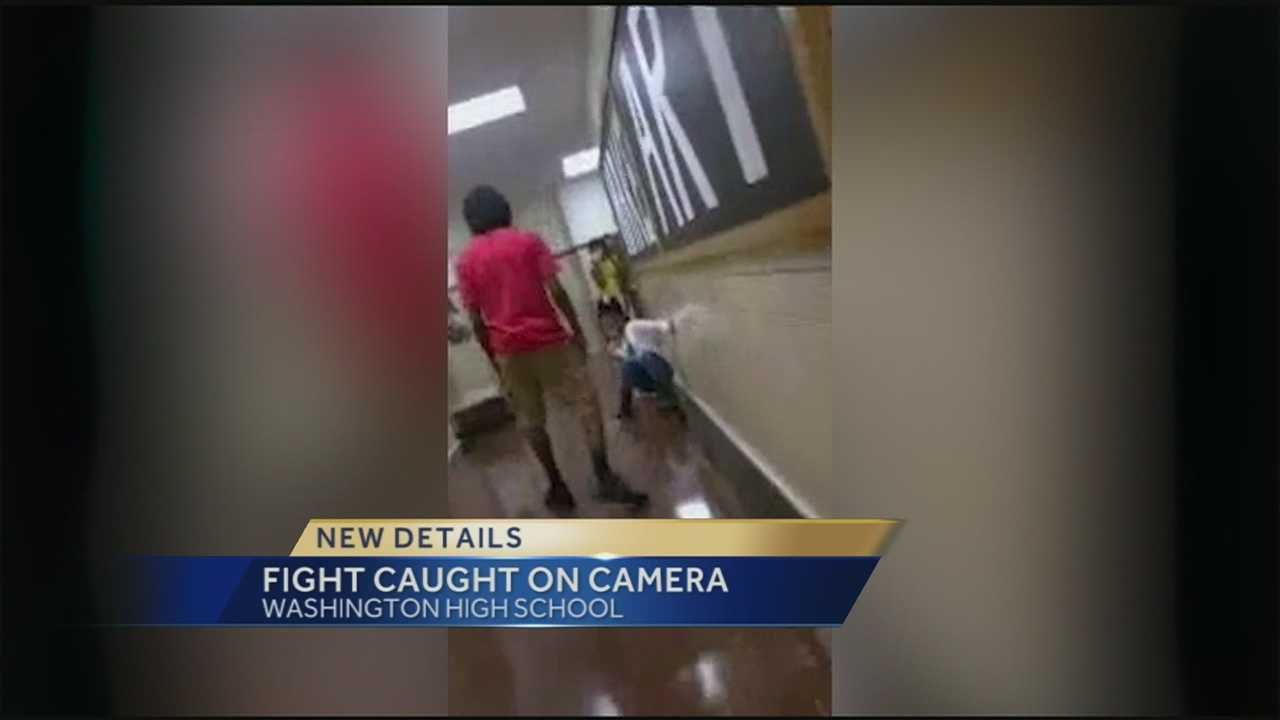 Parents are raising concerns about safety at Washington High School after seeing video of a fight between a teenage girl and boy.