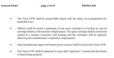 According to Independence police, the purpose of this police is to provide guidance and direction on the use of Taser Conducted Electrical Weapons (CEWs).