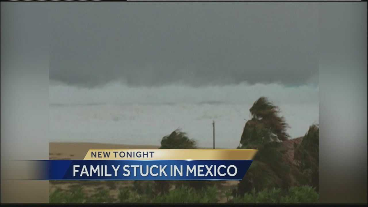 Members of a Kansas City-area family are stranded in Mexico after a hurricane devastated the resort area of Cabo San Lucas.