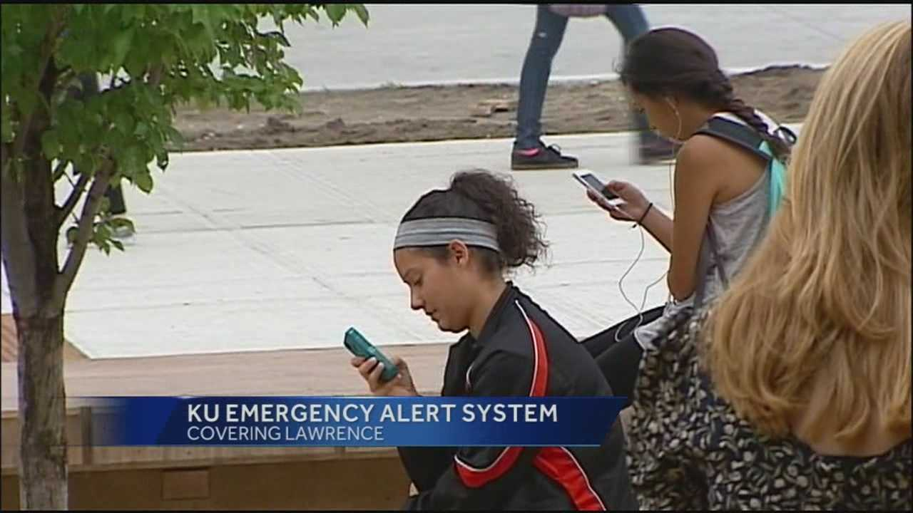 The University of Kansas has upgraded its emergency alert system and put that system through a test run Wednesday afternoon.