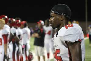 Raytown played Raytown South in Friday night's HyVee Game of the Week. Raytown South receiver Isaiah Hutchinson had a big night.