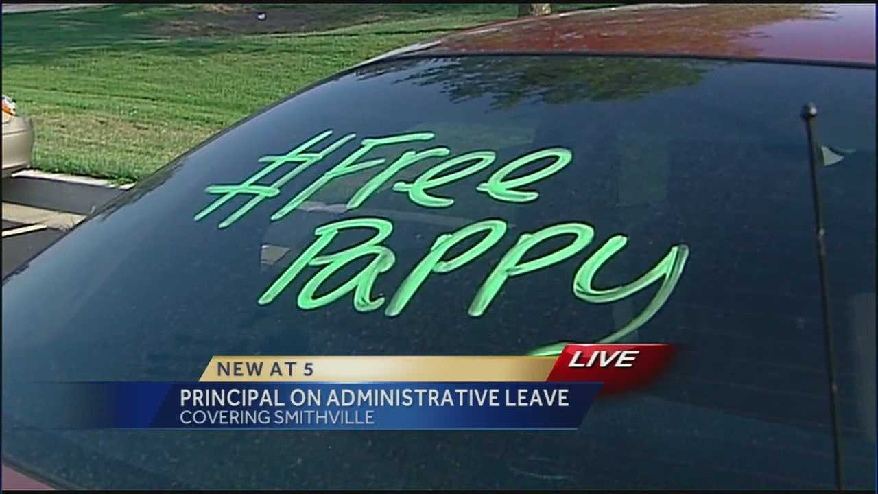 Messages of support have poured in for a high school principal who has been placed on administrative leave.