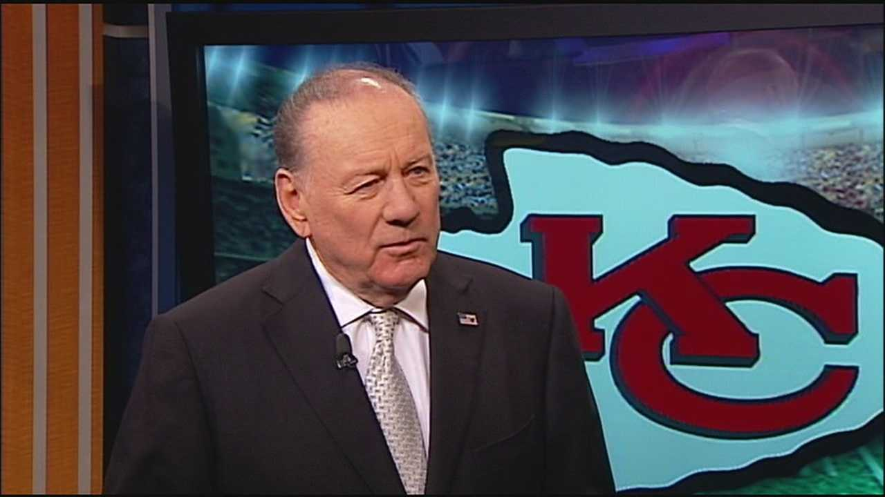 Hall of Fame quarterback and longtime KMBC staple Len Dawson reacts to news that a bridge leading to the Harry S. Truman Sports Complex will be formally re-named for him early Friday.