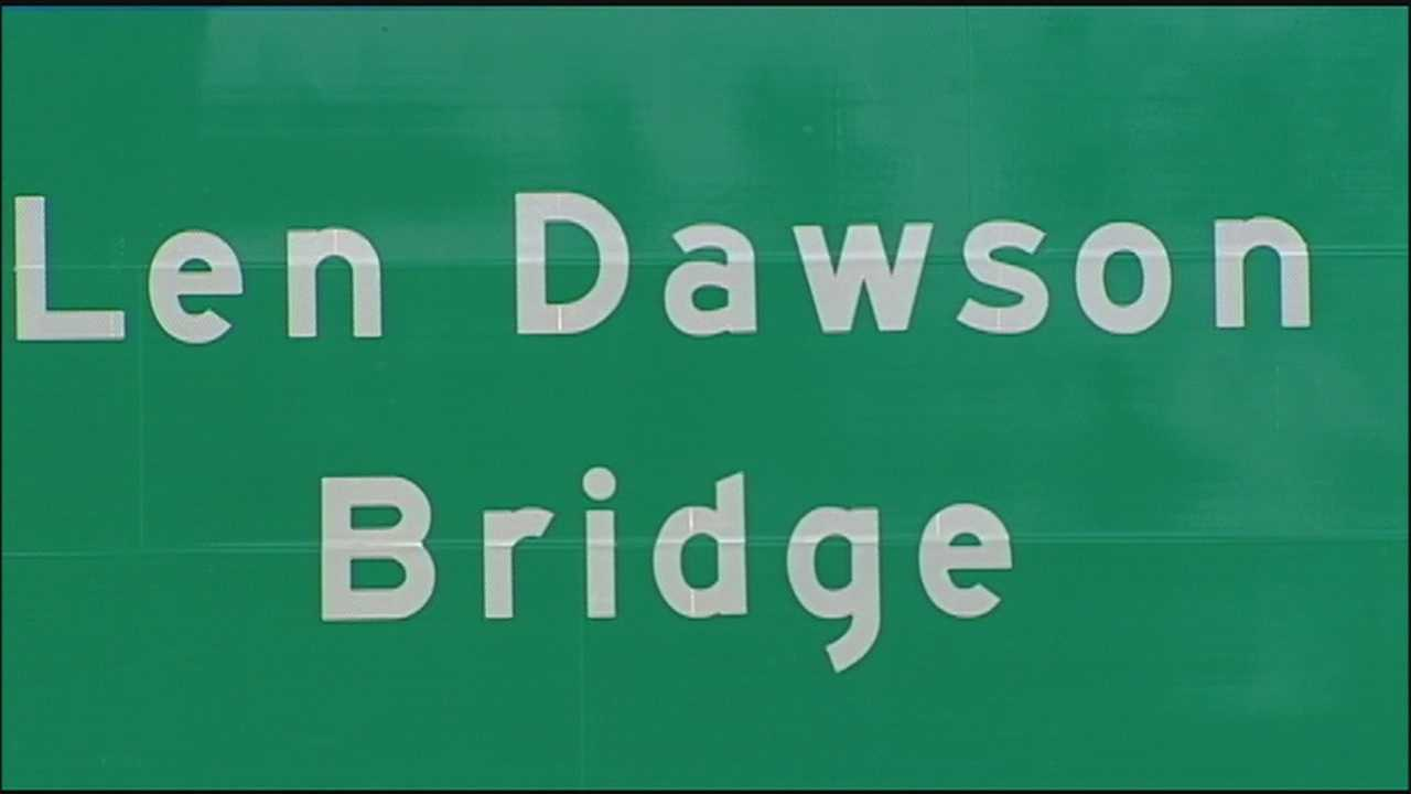 NFL Hall of Famer Len Dawson was honored on Friday with a bridge dedication.