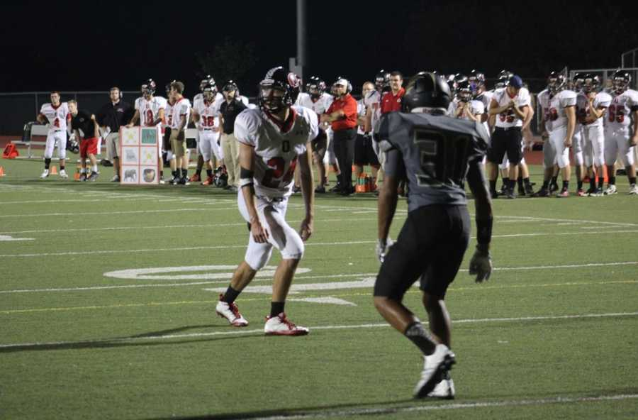 Friday's HyVee Game of the Week saw Excelsior Springs jump out to 14-0 lead. Running back Tyler Eddington scored the first two touchdowns. Odessa then mounted a comeback, finishing with a 21-20 win capped off by final touchdown pass from Jake Bartow to Josiah Bennett.
